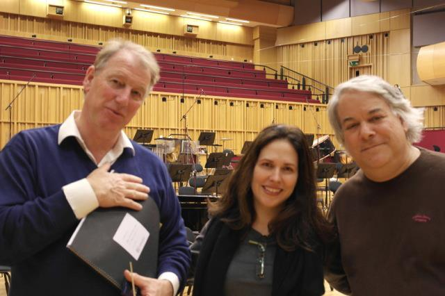 Recording the 'Game of Attrition 'CD, with Conductor Jac Van Steen and Bridge Records director and producer David Starobin
