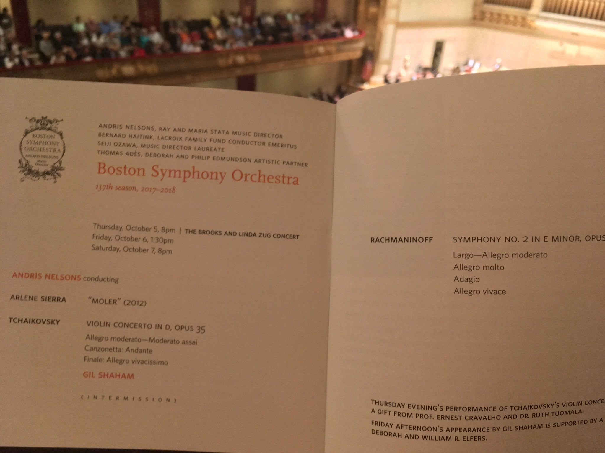 Sierra's Moler with the Boston Symphony Orchestra