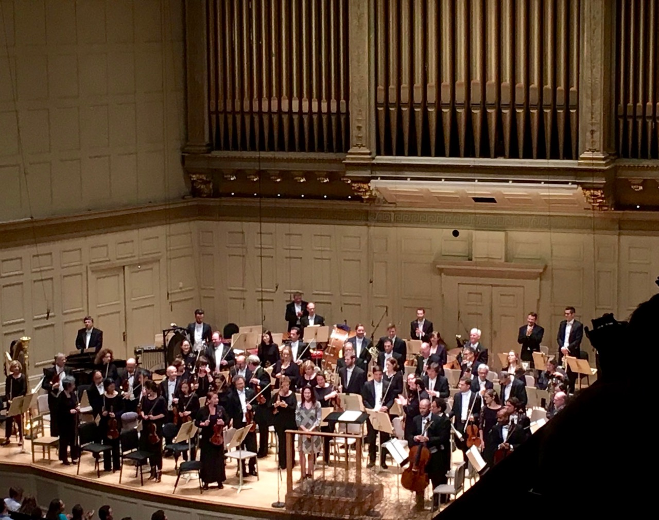 Arlene Sierra at a performance of 'Moler' with the Boston Symphony Orchestra, Andris Nelsons cond.