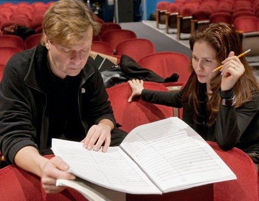Rehearsing 'Game of Attrition' with Magnus Lindberg and the New York Philharmonic